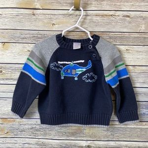 Gymboree Helicopter Sweater 12-18m